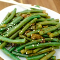 Garlic Chinese-Style Green Beans