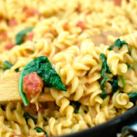 Creamy Tomato & Spinach One Pot Pasta