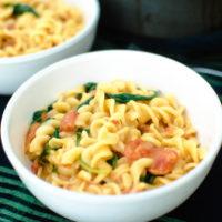 Creamy Tomato & Spinach One Pot Pasta
