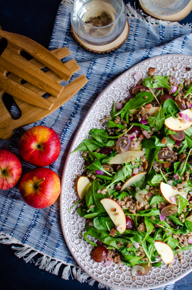 Apple, Farro, and Bacon Salad