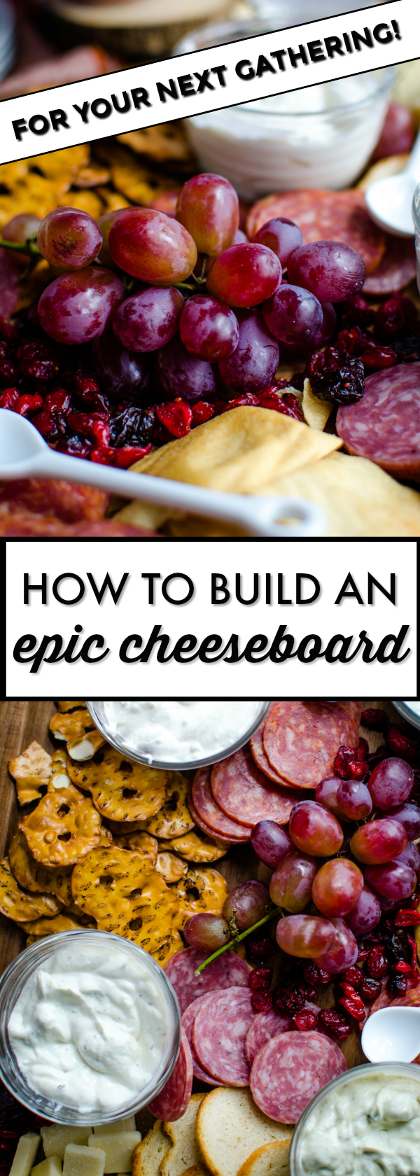 When hosting a gathering, a cheese board is always a crowd favorite. Build your epic cheese board with your favorite cheeses, cured meats, crackers, and bread. You can't go wrong!