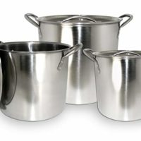 ExcelSteel 570 Stainless Steel Stockpot with Lids, Set of 3, 3 Piece, Silver
