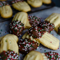 Chocolate Dipped Butter Cookies