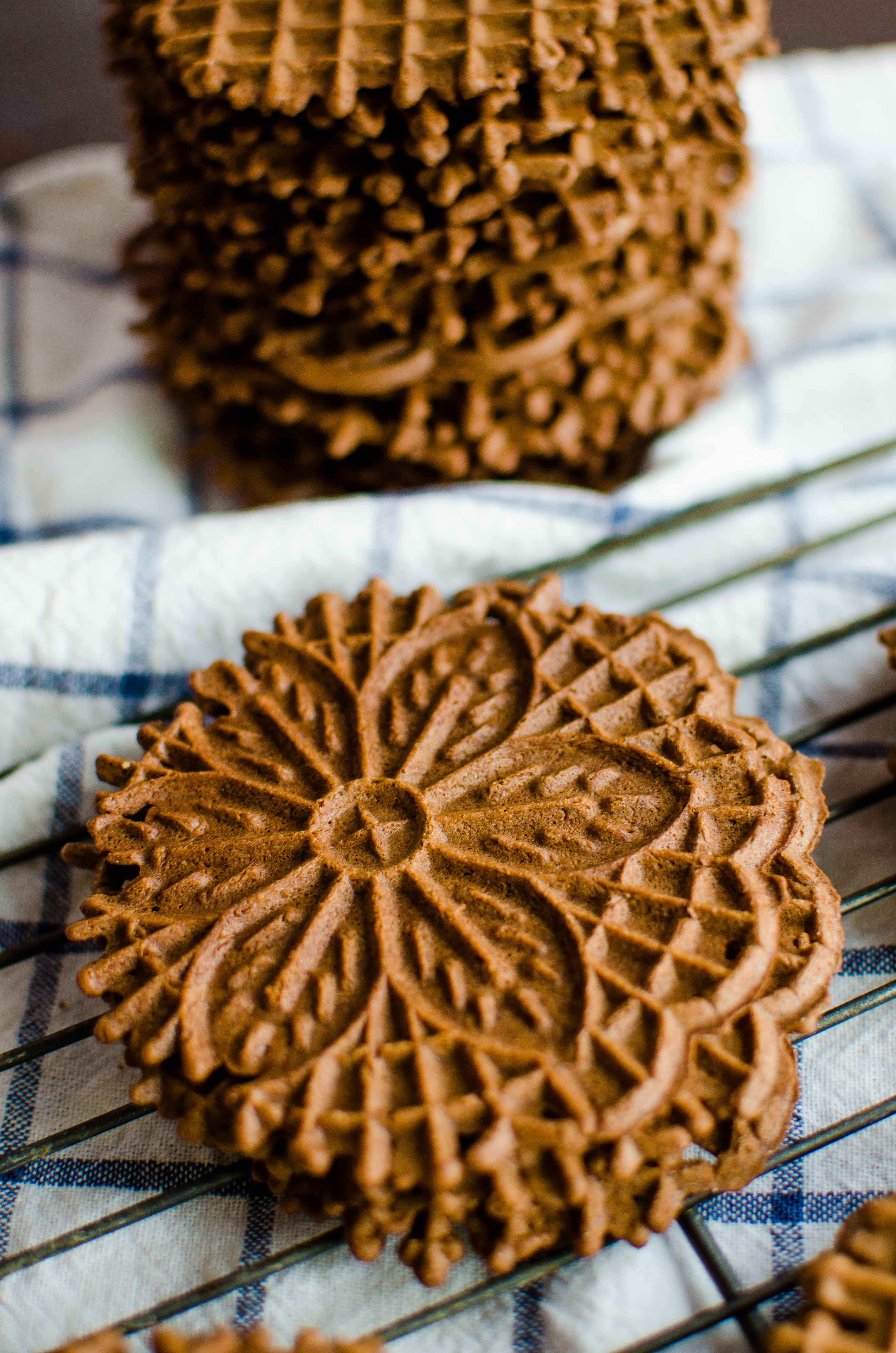 Chocolate Pizzelles A Grande Life