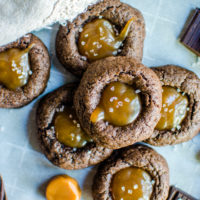 Chocolate Caramel Thumbprints