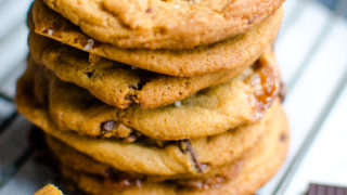Sea Salt Caramel Chocolate Chunk Cookies
