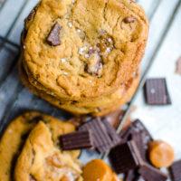 Sea Salt Caramel Chocolate Chunk Cookies