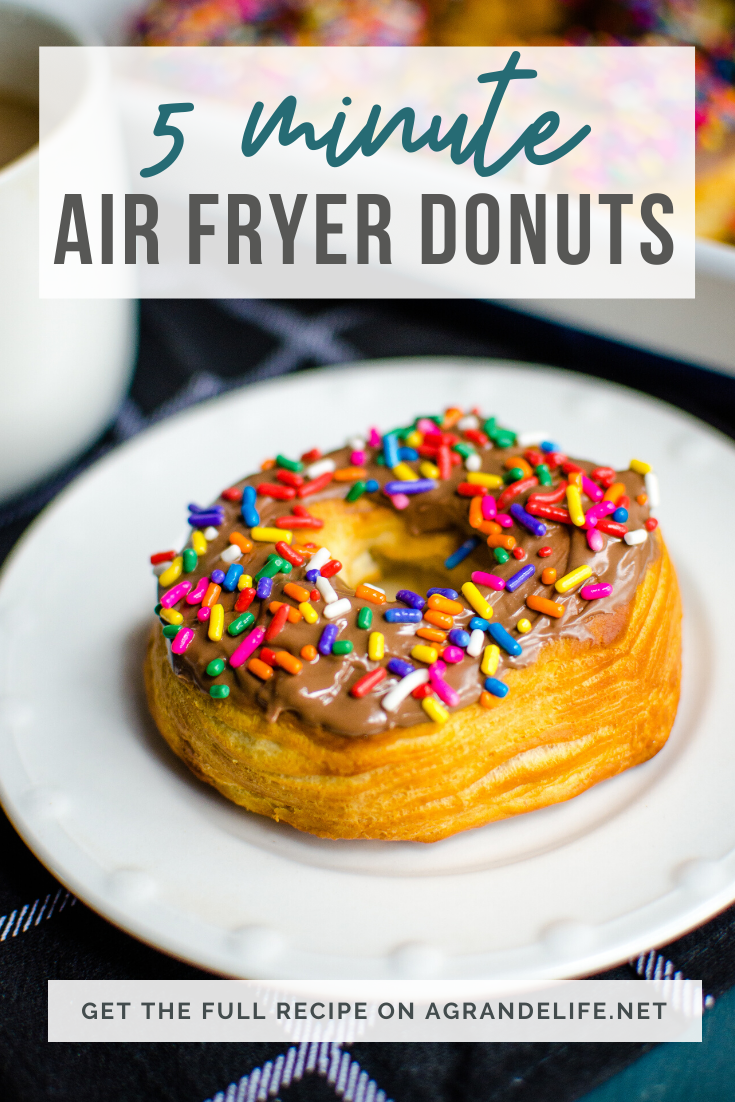 Mornings just got yummier with these quick and delicious donuts made from biscuit dough in your Air Fryer!