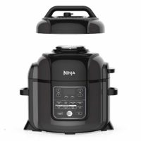 Ninja  Foodi Deluxe TenderCrisp Pressure Multi Cooker 8 quart Black/Gray