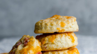 Cheesy Ham Buttermilk Biscuit