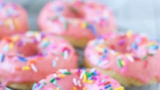 Gluten Free Yellow Cake Donuts - What the Fork