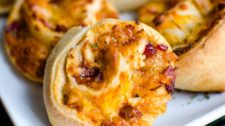 Barbecue Chicken Pizza Pinwheels