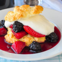 Drunken Berry Shortcake - fresh berries marinated in port wine!