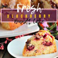 Fresh Blackberry Bundt Cake
