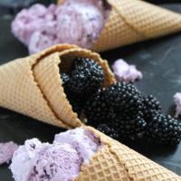 Blackberry Cheesecake Ice Cream