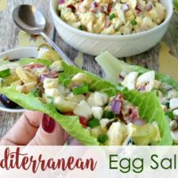 Mediterranean Egg Salad In Lettuce Cups Recipe