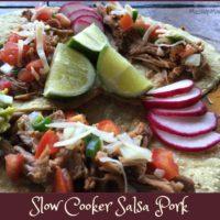 Slow Cooker Salsa Pork -- An easy Crock-Pot recipe