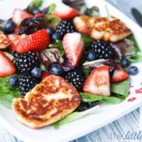 Triple Berry Salad with Halloumi Recipe