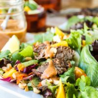 CrockPot Thai Steak Salad with Peanut-Hoisin Sauce