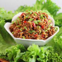 Slow Cooker Asian Chicken Lettuce Wraps