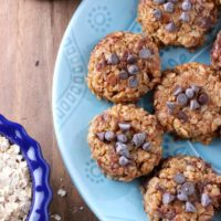 Almond Butter Chocolate Chip No Bake Cookies