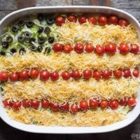 Easy Layered Taco Dip {A Fun Patriotic Side Dish Recipe}