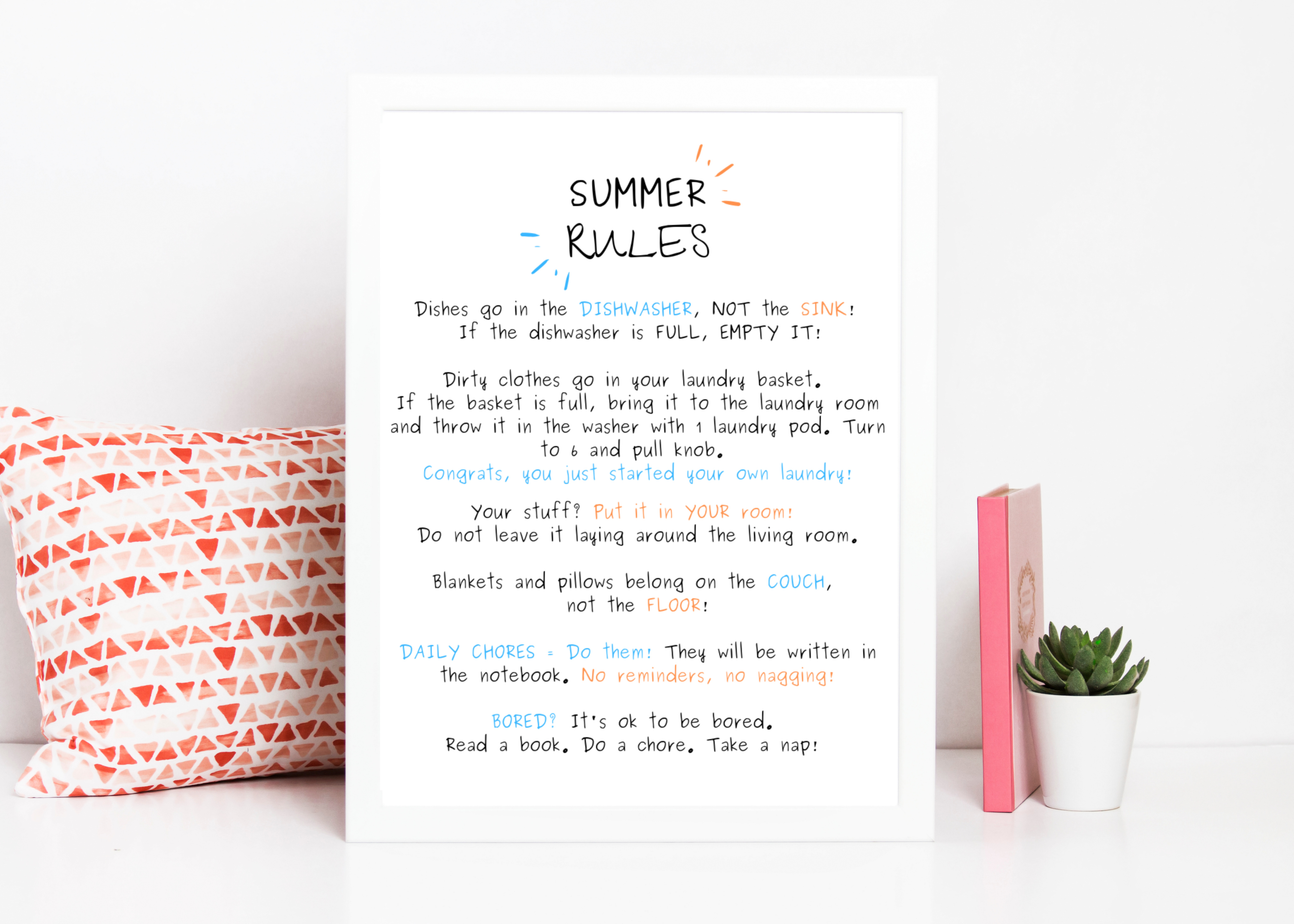 photograph about Summer Rules Printable named Summer time Pointers for Small children - A Grande Existence
