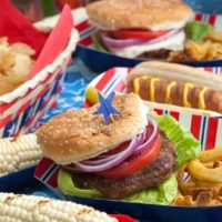 Perfectly Grilled Hamburgers and Homemade French Fries for the Fourth of July!