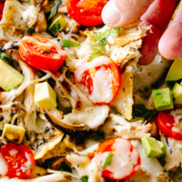 Cheesy Caprese Chicken Nachos | Easy Chicken Breasts Recipe!