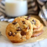 Healthier Greek Yogurt Chocolate Chip Cookies