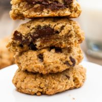 Sour Cherry and Dark Chocolate Granola Cookies