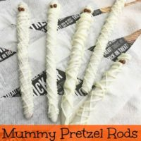 Halloween Treats Mummy Pretzel Rods