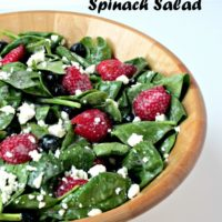 Red, White & Blue Spinach Salad