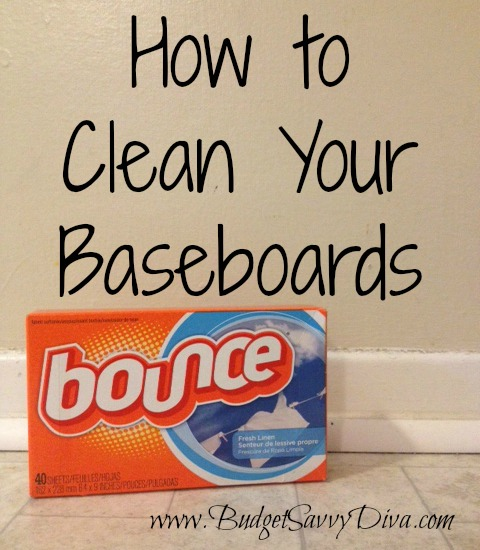 Clean Baseboards Using Dryer Sheets