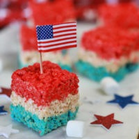 4th of July Rice Krispie Treats - An easy Patriotic dessert recipe