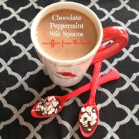 Chocolate Peppermint Stirring Spoons