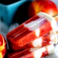 Stone Fruit and Yogurt Popsicles