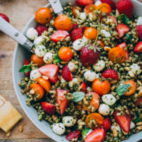 Strawberry Caprese Farro Salad