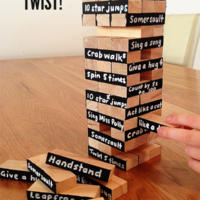 Family Game Night Ideas: Jenga with a Twist!