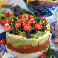 7 Layer Mexican Hummus Dip