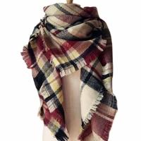 Warm Plaid Blanket Scarf
