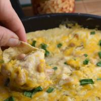 Skillet White Bean, Chicken & Cheese Dip