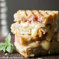 Turkey and Brie Grilled Cheese