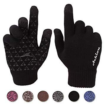 Winter Knit Gloves Touchscreen