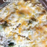 Easy Cheesy Chicken Broccoli Rice Casserole