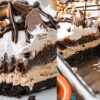 Chocolate Peanut Butter Lasagna