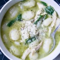 Pesto Chicken Gnocchi Soup