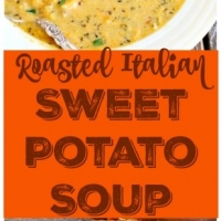 Roasted Italian Sweet Potato Soup