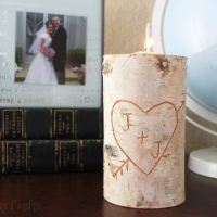 Birch Pillar DIY Candle Holder Makes a Great Gift