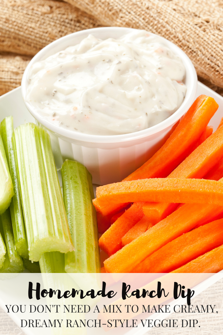 You don't need a mix to make creamy, dreamy ranch-style veggie dip.